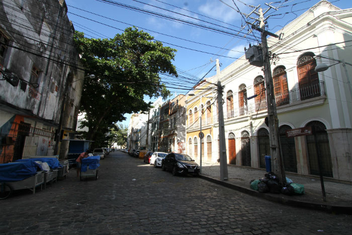 A Rua Domingos José Martins abrigou a primeira senzala urbana do Brasil e chamava-se Rua da Senzala. Foto: Peu Ricardo/DP.
