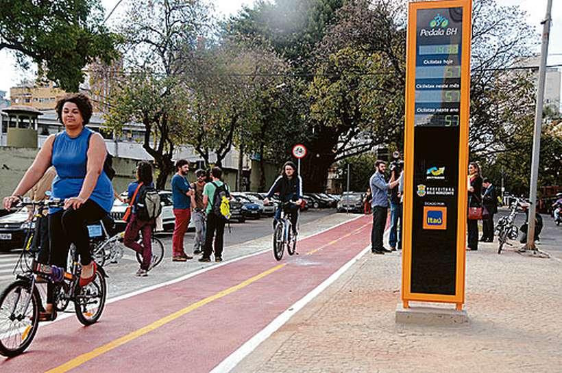 Para a Abraciclo, ampliação de ciclofaixas nas grandes cidades brasileiras contribuiu para crescimento nas vendas. Foto: Cristina Horta/EM/D.A Press