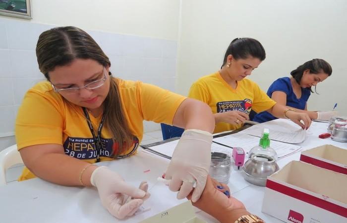 Campanha de prevenção às hepatites na Paraíba. Foto: Assessoria/Agevisa