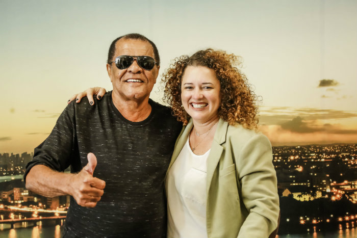 Belo Xis e Gerlane Lops recebem a homenagem da Prefeitura do Recife. Foto: Andréa Rêgo Barros/PCR/Divulgação