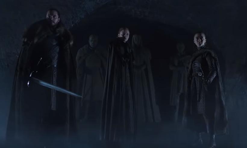 Jon Snow, Sansa e Arya voltam às telas em abril. Foto: Reprodução/YouTube