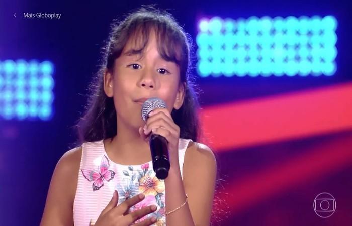 Ana Rízia virou todas as cadeiras no segundo dia de Audições às Cegas do 'The Voice Kids'. Foto: Reprodução/TV GLOBO