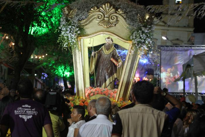 A última missa em homenagem ao padroeiro do município acontece a partir das 19h, na Igreja Matriz, no Centro de Jaboatão. Foto: Nando Chiappetta/DP.