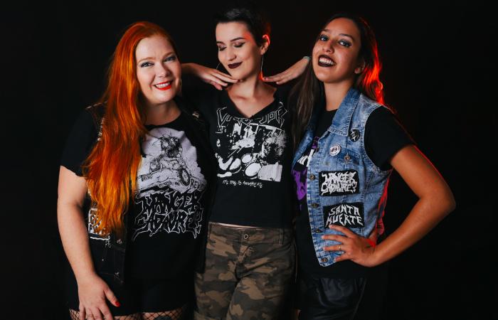 O hardcore das meninas da banda Eskröta está confirmado no evento. Foto: Eskrota/Divulgação