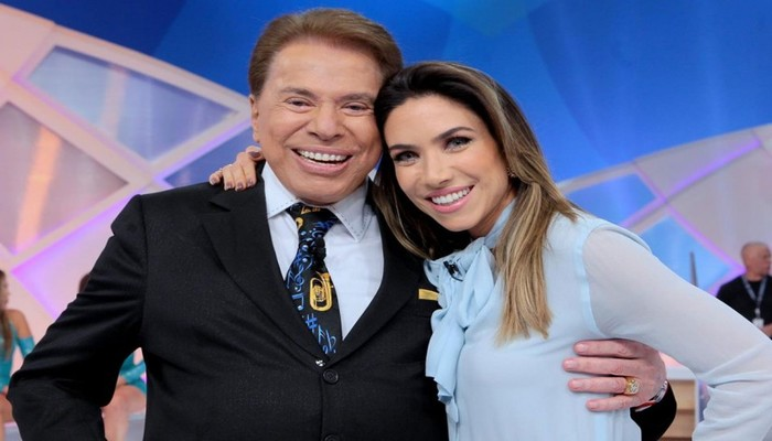 O apresentador Silvio Santos, dono do SBT e a filha Patrícia Abravanel. Foto: Lourival Ribeiro/SBT/Divulgação