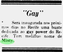Nota na coluna de João Alberto, 1978. Foto: Acervo