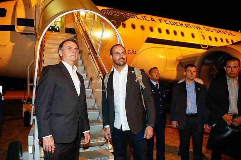 Presidente da República, Jair Bolsonaro, embarca para Davos, Suiça. Foto: Alan Santos/PR