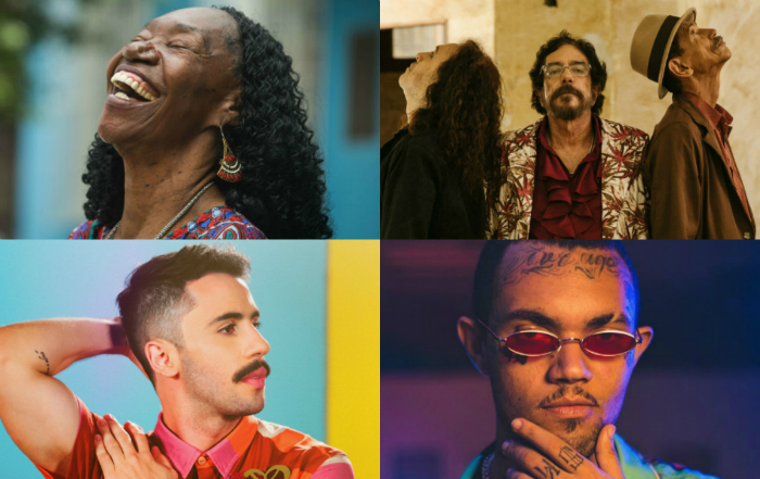 Ano será agitado para os músicos pernambucanos. Foto: Camila Pífano/Esp. DP e Flora Negri, Bieco Garcia e Ramses Ferraz/Divulgação