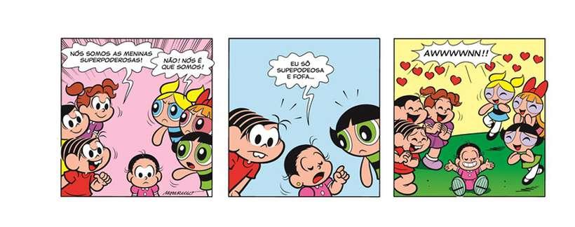 Confira o crossver completo de 'Turma da Mônica' com as 'Meninas superpoderosas'. Foto: Divulgação/Cartoon Network