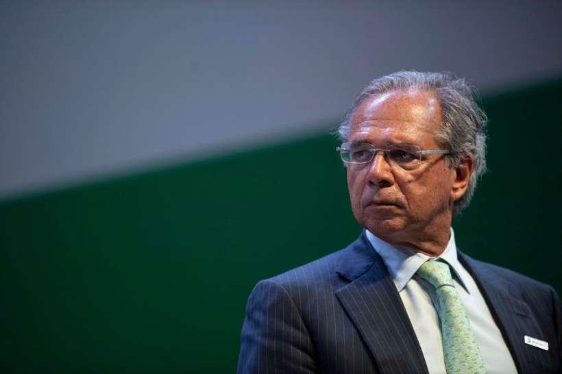 Paulo Guedes, para especialistas, foi encarregado pelo presidente Bolsonaro da pauta econômica do encontro. Foto: Mauro Pimentel/AFP