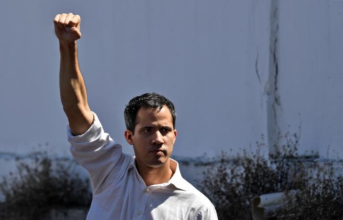 Presidente do parlamento, Juan Guaidó - Foto:  Yuri CORTEZ/AFP