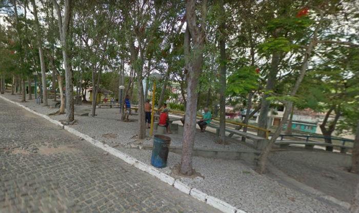 Apreensão aconteceu nas proximidades da Praça dos Eucaliptos, na área central de Belo Jardim. Foto: Google Street View/Reprodução.