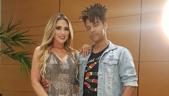 Nadja ao lado do marido, o cantor Vinicius D'Black. Foto: Reprodução/Instagram