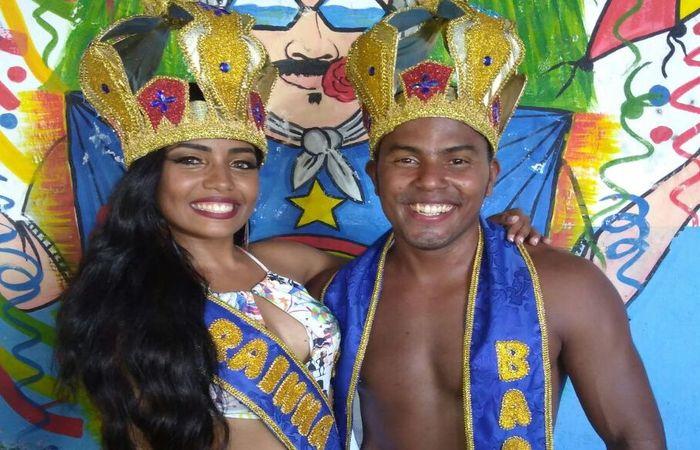 Os foliões Manuela Silva e Renan Ramos venceram o concurso de 2018. Foto: Cortesia/WhatsApp