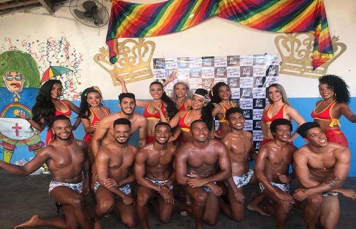Participantes do concurso de Rei e Rainha Baco 2018. Foto: Cortesia/WhatsApp