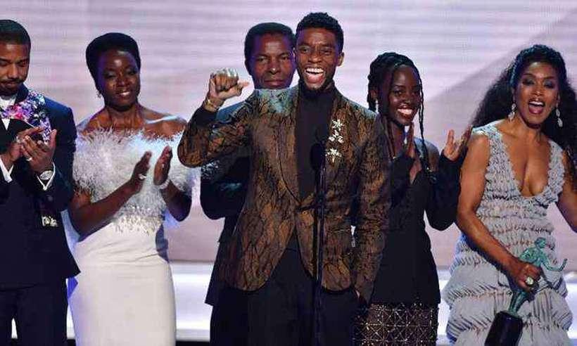 'Pantera Negra' venceu prêmio de melhor elenco para cinema. Foto: Frederic J. BROWN / AFP