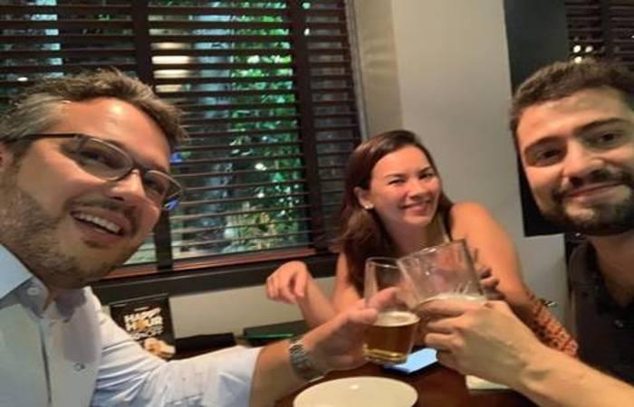 Daner Assis, Rogéria Takata e Pietro Toscano. Foto: Reprodução/Instagram