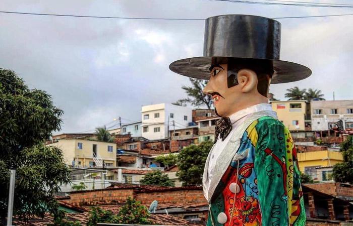 """Este ano, o calunga está homenageando a resistência das periferias com o tema """"A voz do Morro"""". Foto: WhatsApp/Cortesia"""