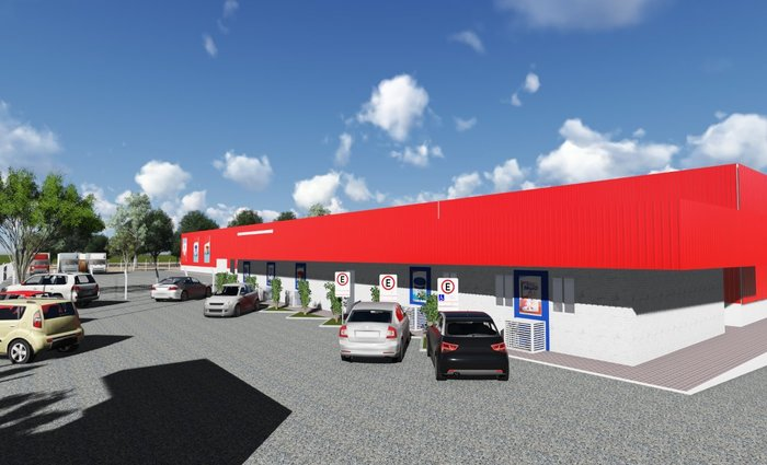 Nova unidade terá uma área de 17 mil metros quadrados. Foto: MegaÓ/Divulgação (Foto: MegaÓ/Divulgação)