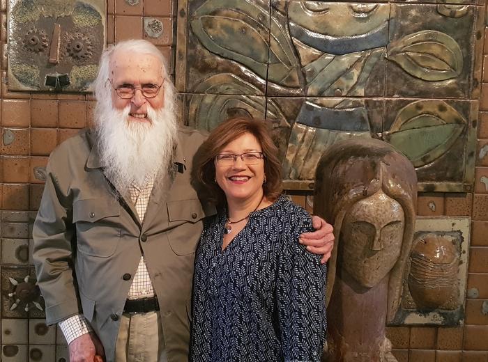 Francisco Brennand e Ruth Vasconcelos. Foto: Acervo pessoal