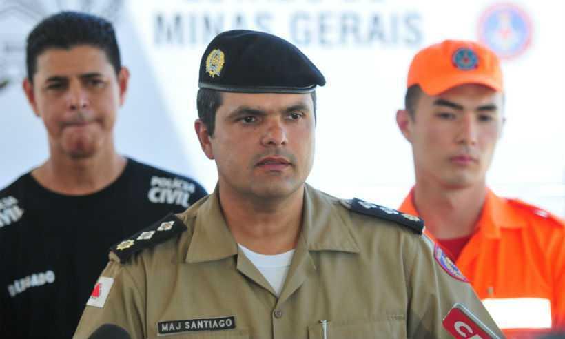 Alerta foi feito pelo major Flávio Santiago, porta-voz da Polícia Militar (PM). Foto: Gladyston Rodrigues/EM/D.A Press
