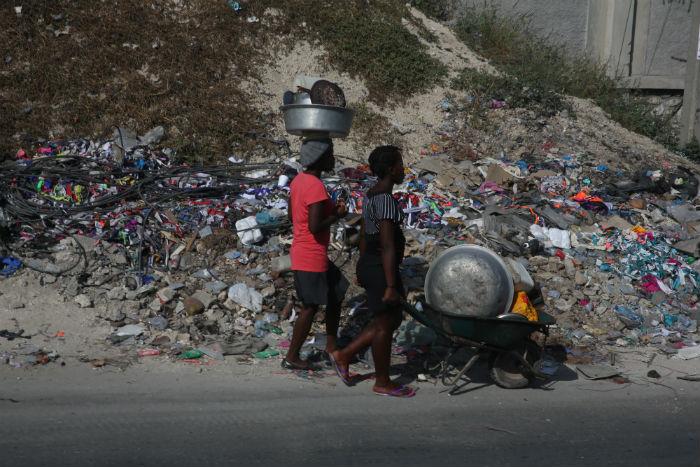 Cerca de 1,4 milhão de haitianos precisam de ajuda alimentar após o furacão Matthew. Foto: Teresa Maia/DP.