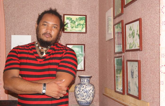 Guitinho do Xambá é músico do grupo Bongar e filho de Tia Gogó. Foto: Carolina Braga/Esp. DP/D.A Press
