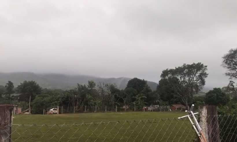 Clima em Brumadinho na manhã desta quinta-feira. Foto: Corpo de Bombeiros/Divulgação