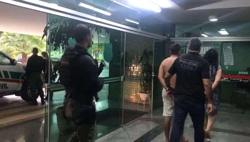 Quatro mulheres e três homens foram presos na operação. Foto: Reprodução/PCDF