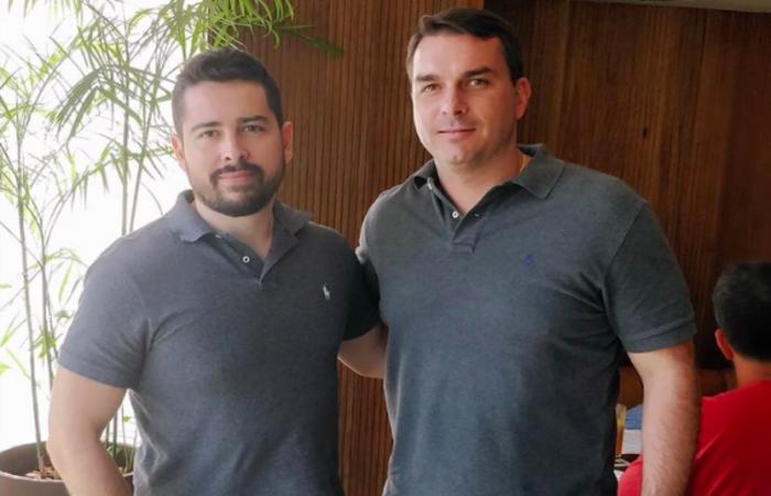 Paulo Figueiredo e Flávio Bolsonaro. Foto: Reprodução/Internet