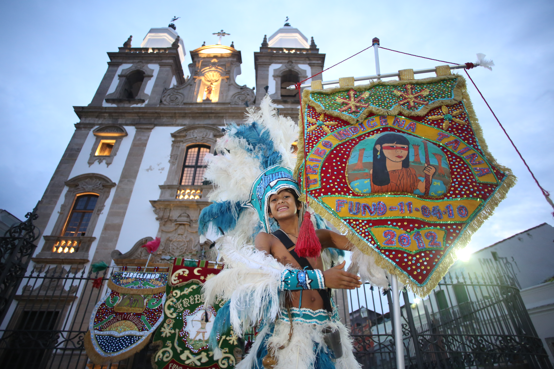 Concurso de Porta Estandarte acontece no Pátio de São Pedro. Foto: Hesíodo Góes/Esp.DP.