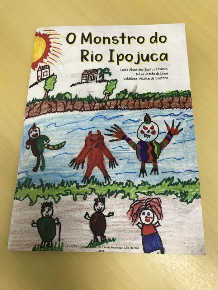 Rio Ipojuca é tema do livro elaborado coletivamente por estudantes do município. Foto: Secom Ipojuca/Divulgação.