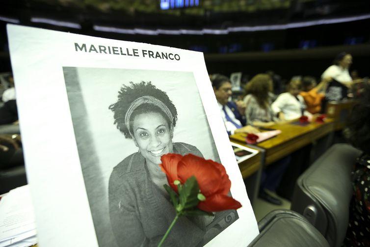 Homenagem a Marielle Franco e Anderson Gomes na Câmara dos Deputados - Arquivo/Marcelo Camargo/Agência Brasil