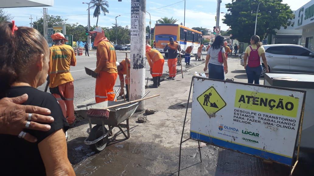 Mutirão de limpeza acontece nos bairros do Varadouro e Santa Tereza. Foto: Divulgação