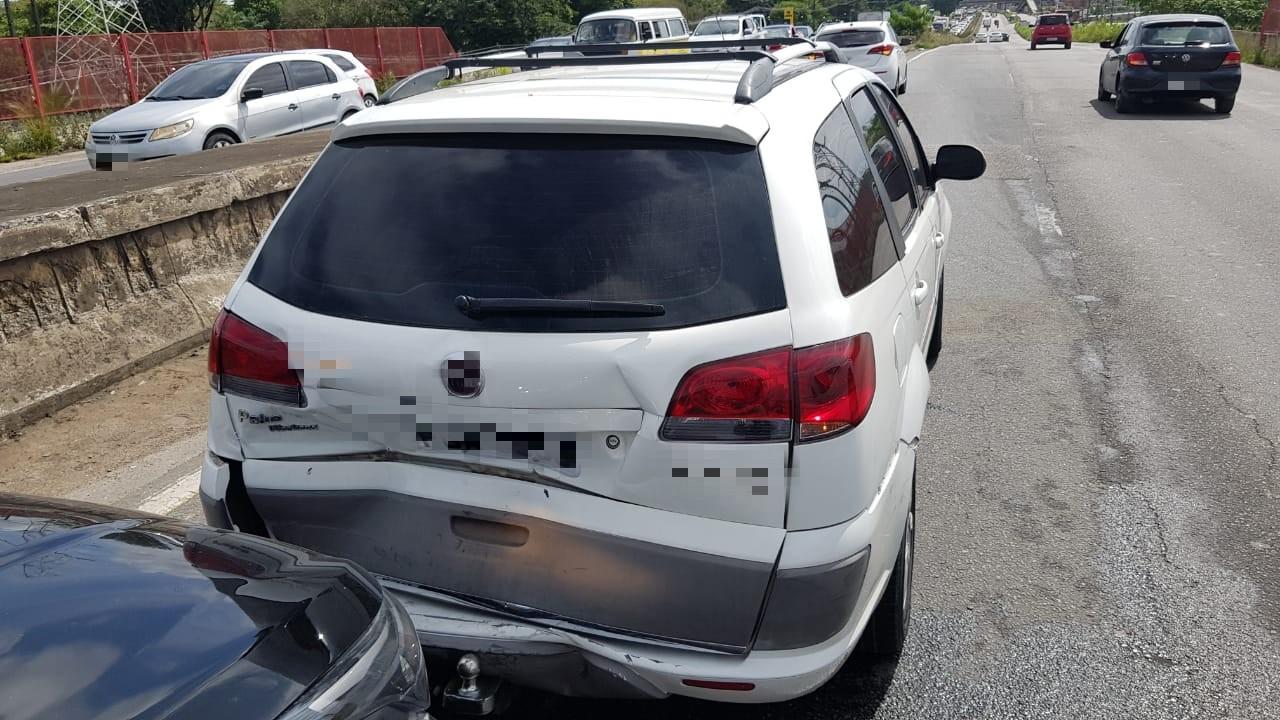 Acidente envolveu seis veículos. Foto: PRF / Divulgação