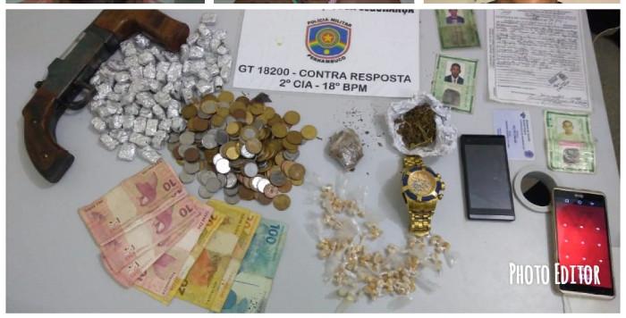 Material foi apreendido e levado para delegacia do Cabo de Santo Agostinho.  Crédito: Polícia Militar