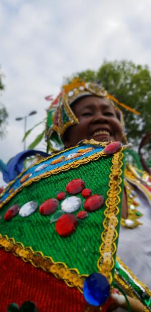 Tereza Santos, 82 anos, desfila para reverenciar memória da mãe. Crédito: Alice de Souza/DP