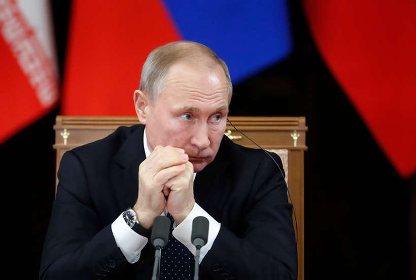 O presidente ameaçou os Estados Unidos em resposta à instalação de novos sistemas de mísseis americanos na Europa. Foto: Sergei Chirikov / AFP