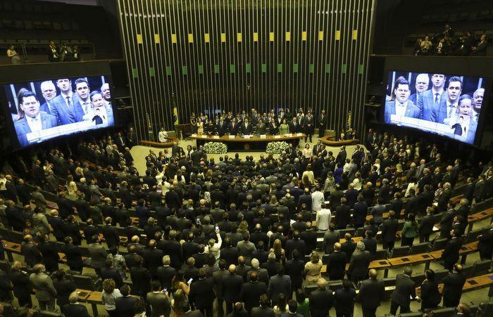 Diap mostra que a oposição, hoje, teria apenas 176 votos declarados. Foto: Fabio Rodrigues Pozzebom/Agência Brasil