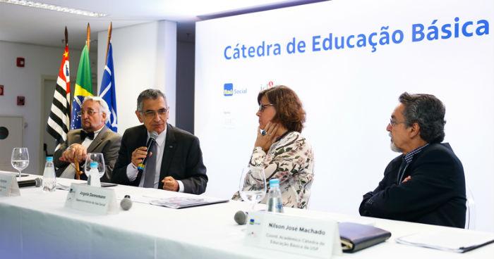 Cátedra de Educação Básica foi lançada na última quinta-feira em São Paulo. Foto: Cecília Bastos/USP Imagens.