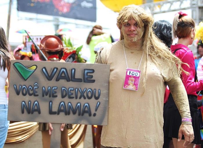 A tragédia de Brumadinho ganhou destaque no desfile. Foto: Tarcisio Augusto/Esp.DP.