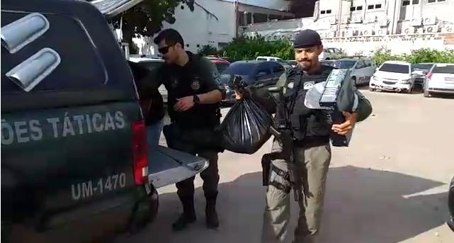 Material apreendido foi encaminhado para a Delegacia de Paulista. Foto: divulgação/Polícia Civil