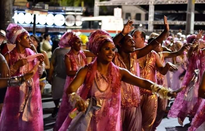 Apresentação do Afoxé no carnaval. Foto: Reprodução/Facebook