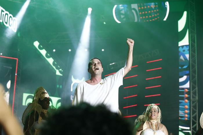 Cordel do Fogo Encantado participou do espetáculo. Foto: Mandy Oliver/Esp.DP.