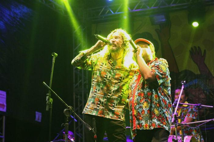 Show do grupo Bongar com participação de Silvério Pessoa. Foto: Bruna Costa/Esp.DP.