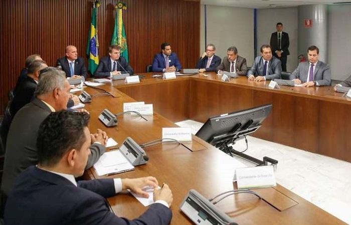 Jair Bolsonaro se reúne com bancada de Roraima: no retorno do feriado, conversa pode voltar a ser com o coordenador da bancada do Nordeste. Isac Nóbrega / PR / Correio Braziliense