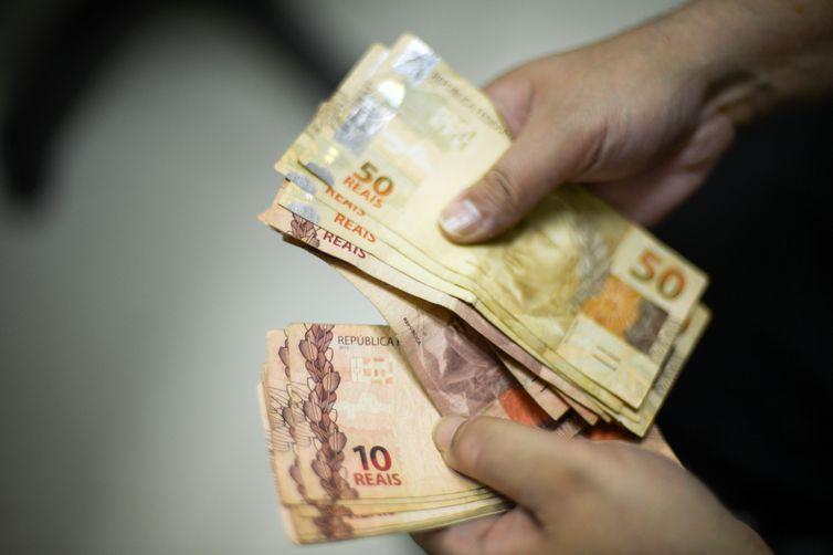 Real, moeda nacional. Crédito: Marcello Casal JR/Agência Brasil