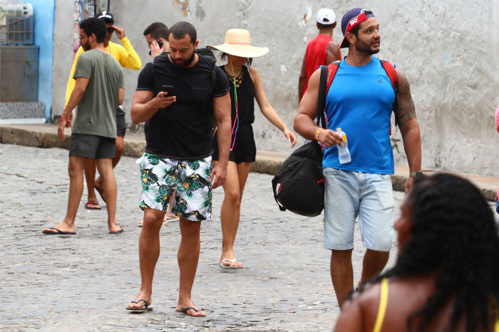 Phillipi e Raphael, do Rio, brincaram em Olinda pela primeira vez. Foto: Peu Ricardo