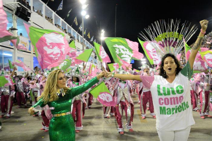 Escola homenageou vereadora assassinada em 2018. Fotos: Delmiro Júnior/Estadão Conteúdo.