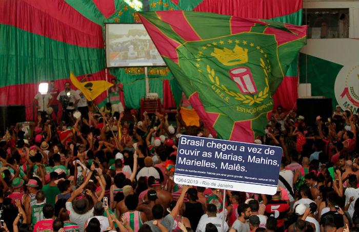 Título é comemorado pela comunidade. Foto: Wilton Júnior/Estadão Conteúdo.